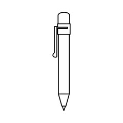 pen utensil icon over white background vector illustration