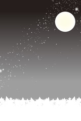 背景素材壁紙,夜景,星空,天の川,天の河,キラキラ,秋,十五夜,お月見,満月,月夜,中秋の名月,月光