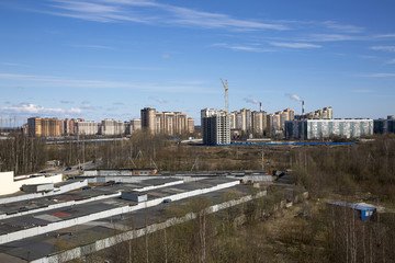 Saint Petersburg, Russia,may 08, 2017:Housing construction in the vicinity of St. Petersburg