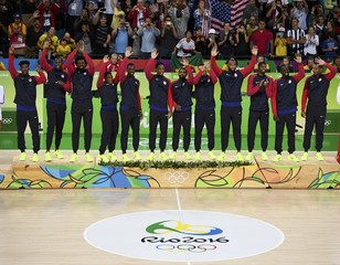 Basketball - Men's Victory Ceremony