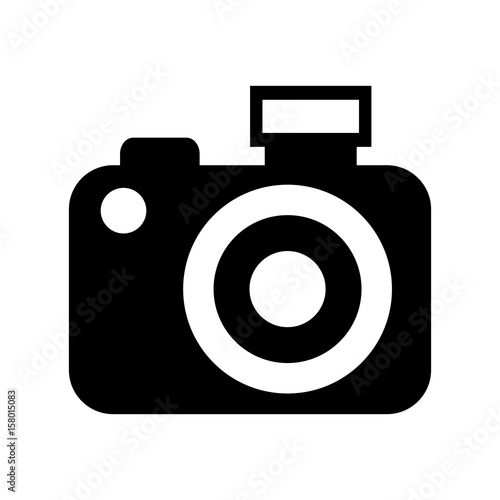 Black Icon Vintage Camera Vector Graphic Sdesign