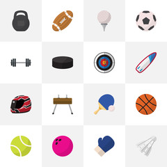 Set Of 16 Editable Exercise Icons. Includes Symbols Such As Kegling, Athlete, Miniball And More. Can Be Used For Web, Mobile, UI And Infographic Design.