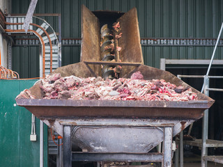 Abattoir byproducts for processing.
