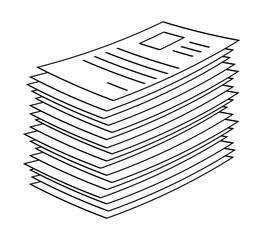 heap, stack of paper document file web icon vector symbol icon design.