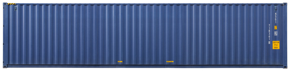 Shipping container, isolated, front view