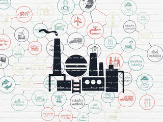Industry concept: Oil And Gas Indusry on wall background