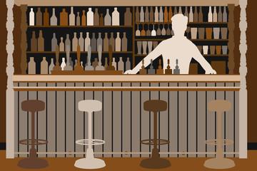 Welcoming barman