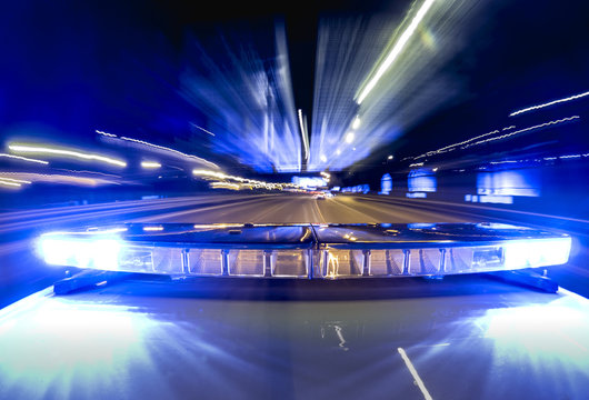 Police sirens in the car