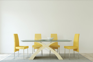 Dining-room interior.3d render.