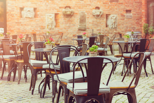 european restaurant - tables and chairs