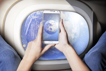 Weltraum Handy Foto
