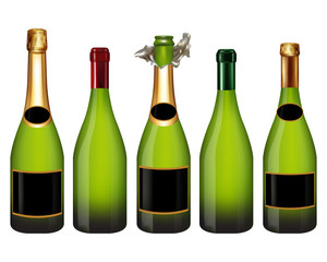 champagne bottle isolated on white