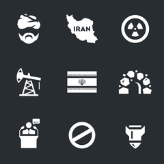 Vector Set of Iran Icons.