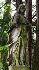 Statue of an Angel on Graveyard
