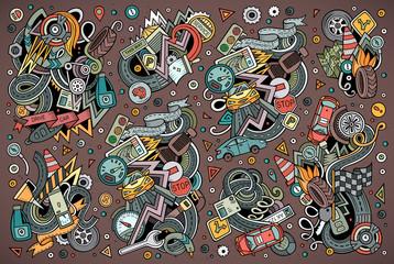 Vector cartoon set of Automobile designs