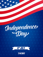 USA Independence Day poster. Fourth of July holiday event banner. 4th of July holiday