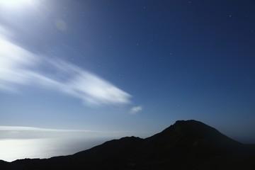la palma island , nights , lightstars