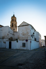 Idyllic Andalusian mountain village Baena in Spain on a day in spring