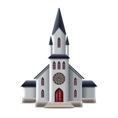 Catholic church isolated on white vector