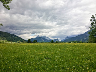 Panoramic view in National Park Gesäuse, Styria, Austria