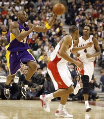 File photo of Los Angeles Lakers guard Kobe Bryant during NBA basketball game in Toronto