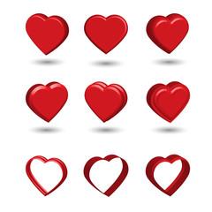 set heart 3d