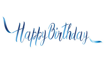 Happy birthday card with handmade letters calligraphy
