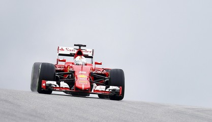 Ferrari Formula One driver Vettel of Germany drives during the first practice session of the U.S. F1 Grand Prix at the Circuit of The Americas in Austin