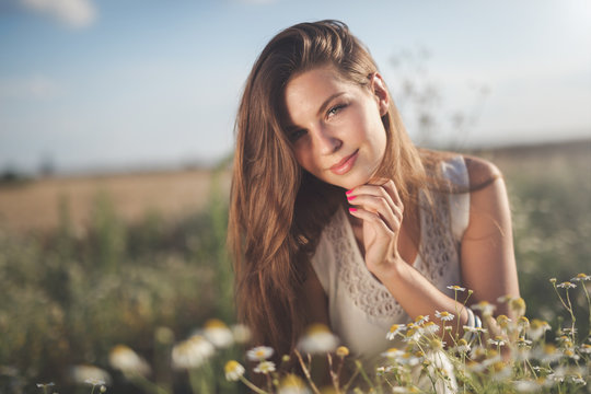Beautiful happy allergy free woman