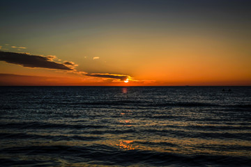 Sunset over the Gulf of Mexico in Florida