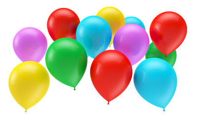 balloon isolated on white background, 3D rendering