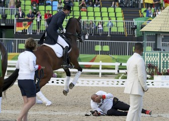 Equestrian - Dressage Team Victory Ceremony