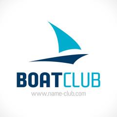 logo club nautique bateau