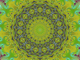 Green Star - Kaleidoscope Image