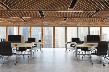 Wooden open space office