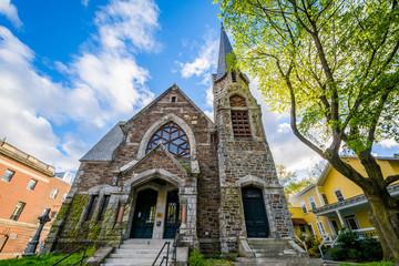 A historic church in Brattleboro, Vermont.