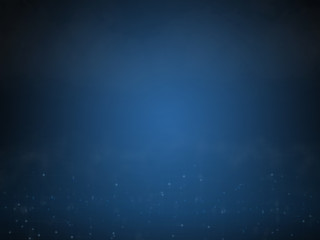 Abstract wallpaper illustration of blue dark blurred background with fog.