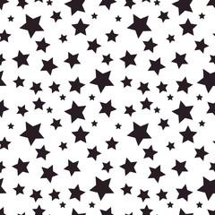 Seamless pattern with black stars