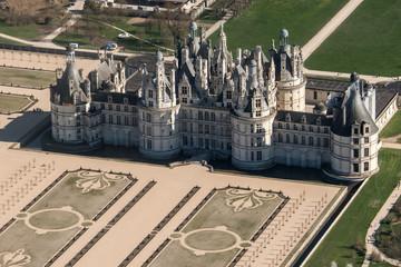 Vue aérienne du château de Chambord en France