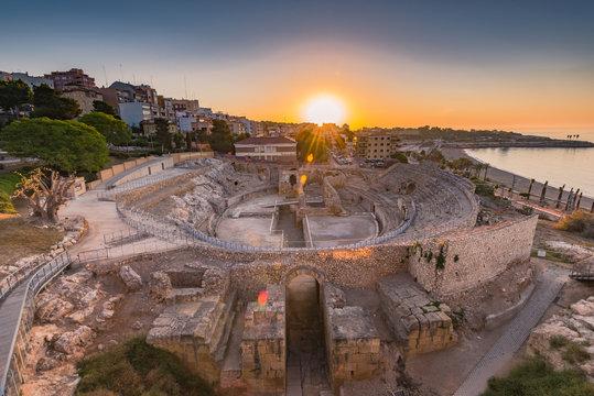 Tarragona Roman Amphitheatre ruins,Spain