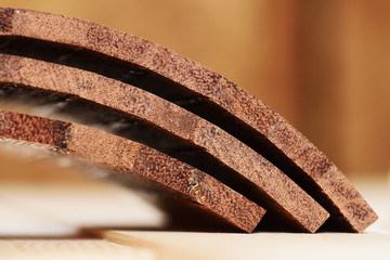 Curved merbau wood parts for handmade drum