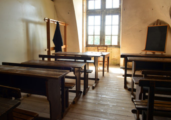 Old classroom in a school
