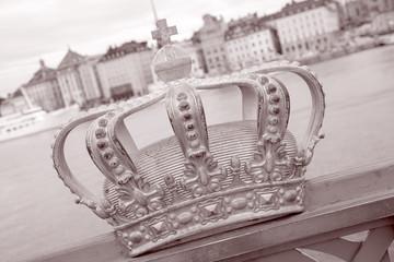 Golden Crown on Skeppsholm Bridge - Skeppsholmsbron (1861), Stockholm