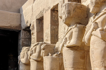 Karnak temple of Luxor, Egypt. This was the largest temple complex of Amun-Re God in ancient Thebes town.