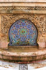 Decorative tile fountain