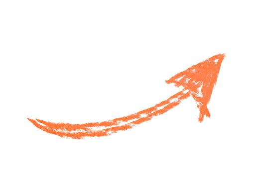 Hand drawn arrow symbol isolated