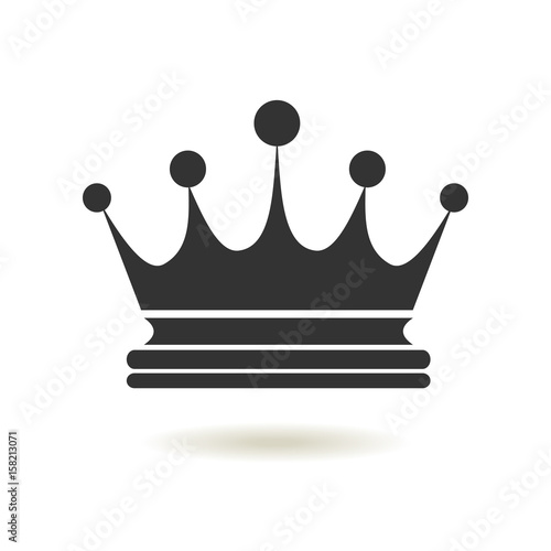 Crown Icon In Trendy Flat Style Monarchy Authority And Royal