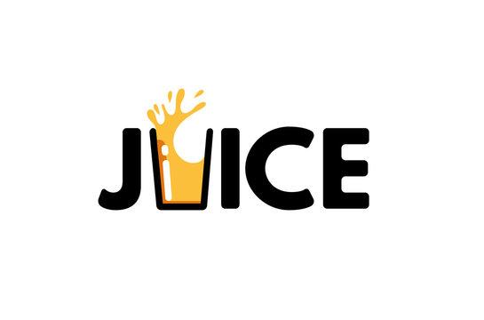 Juice Typography Letter Logo Design Illustration