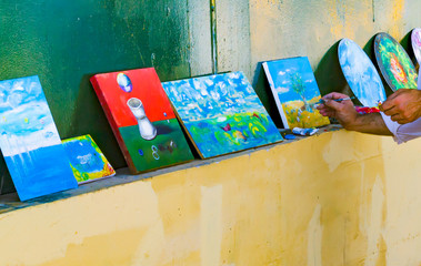 Hand painted canvases for sale by artist