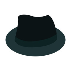 Isolated hat icon on a white background, Vector illustration